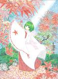 巫女GUMI【ボールペン画】