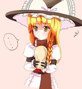 一風変わった上海人形を貰った魔理沙