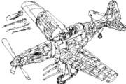 戦闘機ドックファイト作画