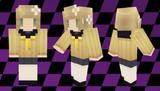【Minecraft】マイクラスキン新髪グラデサンプル(玲スキン)【ペルソナQ】
