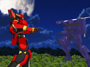 オリメカ戦隊グリッドレンジャー第20話A「夜の梟と赤い刀」