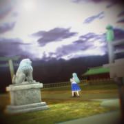 守矢神社の朝