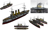 MMD用モブ防護巡洋艦1900セット