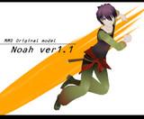 【MMDオリキャラ】ノア ver1.1【モデル配布】