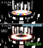 【MMDステージ配布】シンプルな土台と壁ステージ