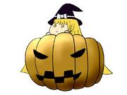 ハロウィンなのでかぼちゃと魔法使いを描こうと思った結果