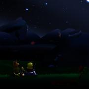 ヤマパル、夜の空の下にて