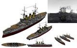 MMD用モブ前弩級戦艦1900セット