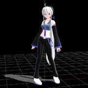 【MMD】弱音ハクおやぶん式 Ver.1.01【モデル配布】