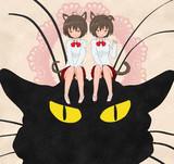 ロートレックの双子の猫娘