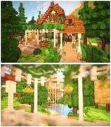 【Minecraft】自作TEXも混ぜたマイホーム