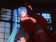 【MMD楽器選手権】ウッドベースとミク