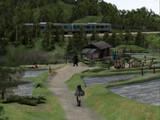 棚田と鉄道