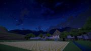Minecraft 夜の田舎