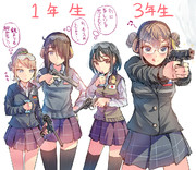 武装JKの学年格差