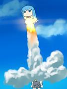 スペースシャトル初風号打ち上げ