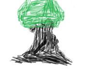 ペイントで木を書いてみた!!