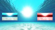 再配布【MMDステージ配布】光と水だけの世界Ver1.2 【水中スカイドームD2】