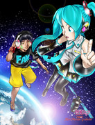 1/6 - Out of the Gravity - Miku x Alan