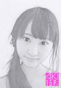 鉛筆画、似顔絵!松井玲奈!