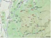 滋賀県湖東(彦根・米原・多賀)鈴鹿山脈東(霊仙山麓)の地図