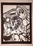 【切り絵】甘城ブリリアントパーク ティータイム