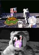 月人と遭遇するアームストロング