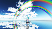 【MMDステージ配布】虹の鏡面反射 E1 Ver1.2【スカイドーム】