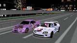 夜のバトル GT-R VS スープラ