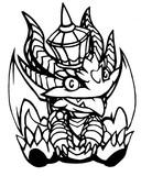 【切り絵】キングメタルドラゴン
