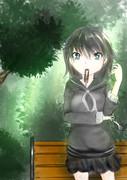 木陰の少女
