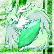 フリーアイコン:水晶と小獣竜(緑)