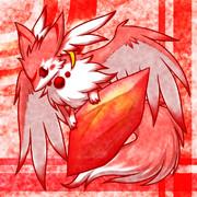フリーアイコン:水晶と小獣竜(赤)