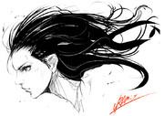 髪の毛練習