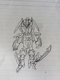 オリハルコンレイカルのカリクムをモデルにSDガンダムを描いてみた