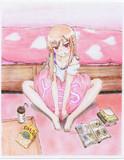 夜ノ森紅緒さんの模写を塗りました(^ω^)