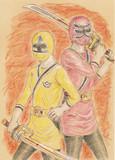 シンケンジャーの黄色とピンク