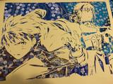 切り絵『士郎とセイバー』
