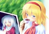 リク「旦那をお茶に誘うアリスと、それを覗く神綺」