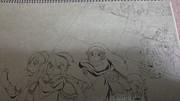 ゼル伝落書き((漫画のつもりで暇だから、描いてみました。(´・ω・つまらないです。)