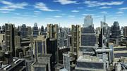 再配布【MMDステージ配布】昼間の未来都市Ver1.3【スカイドームF1】