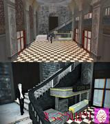 【MMDステージ配布】廃墟エントランスステージ