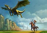 ドラゴンと女騎士