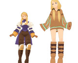 【MMD】アグリアスと風水士【FFタクティクス】