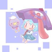 小傘ちゃんとフワンテ