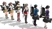 3-2攻略の駆逐艦(艤装で擬装)