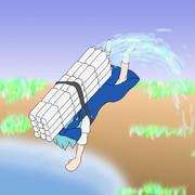 【1日1チルノ131日目】チルノ、ペットボトルで空を舞う