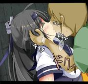 秋月と幸せなキスを