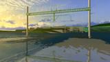 【MMD】ようやくプラットホームの建設にとりかかりました
