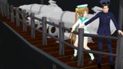 【MMDで進撃の艦これ】兵長とパラベーンと妖精さん